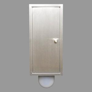 Brush-up RVS geborsteld: Inbouw toiletborstel is een systeem dat naast het het inbouw toiletframe kan worden geplaatst.
