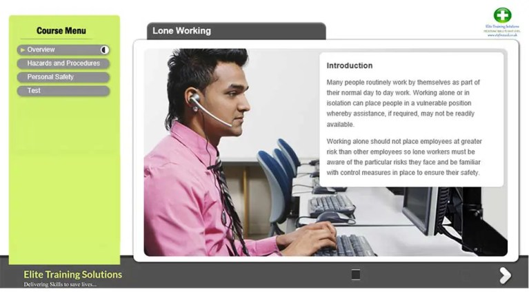 E-Learning Lone Working Training