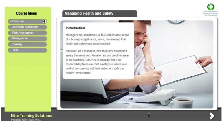 E-Learning Manual Health and Safety Training
