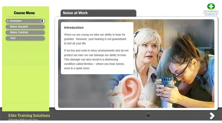 E-Learning Noise at Work