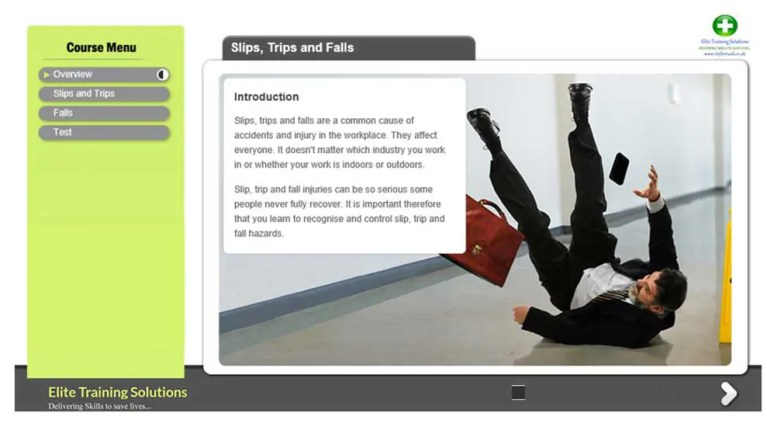 E-Learning Slips, Trips and Falls