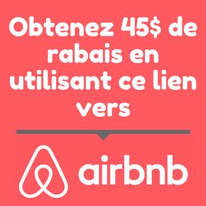 Rabais AirBnB