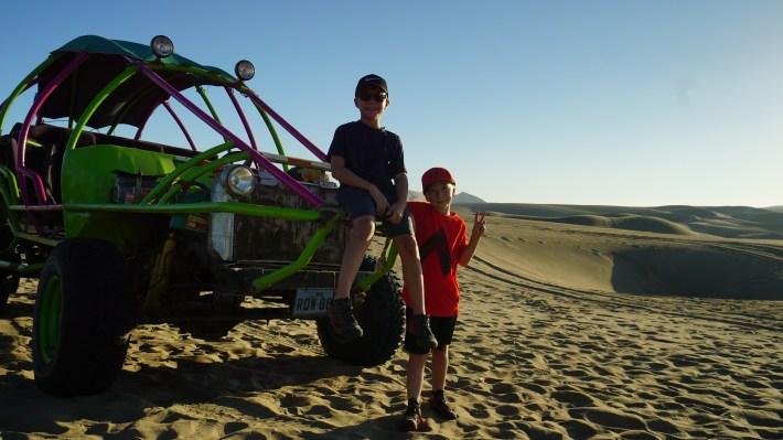 Ica - Les garçons sur notre dunesbuggy
