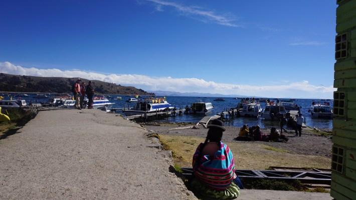 Ça gaz à La Paz - Sur le quai