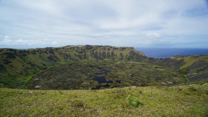Île de Pâques - À la recherche de Rapa Nui pool - Cratère