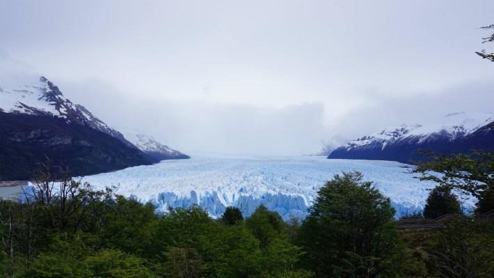 Descente au bout du monde - Perito Moreno de loin