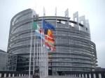 La sede del Parlamento europeo di Bruxelles vista dall'esterno.
