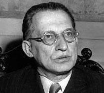 Il premier italiano che firmo' il trattato di pace di Parigi, Alcide de Gasperi.
