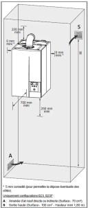 Positionnement de la chaudière à condensation de type ventouse
