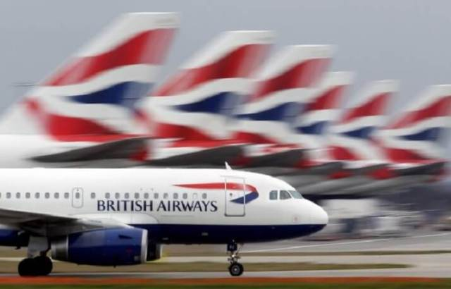 British Airways flights nearly 100% grounded