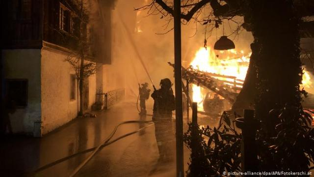 UNESCO World Heritage town burns in Austria