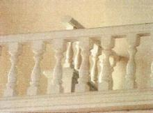 Peter also created the rails of the balcony that he restored in or sanctuary.