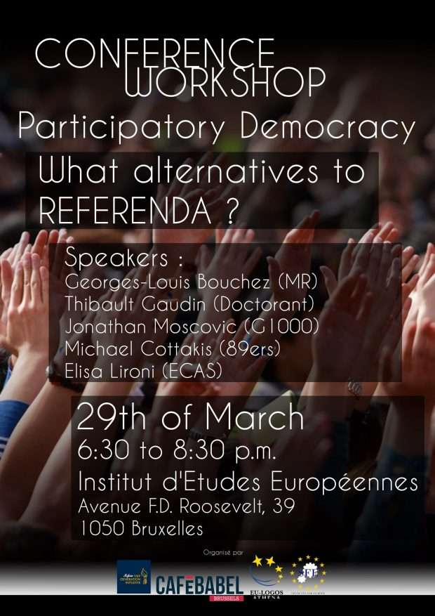 Participatory democracy : What alternatives to Referendum ?
