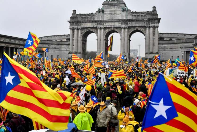 #FactOfTheDay 07/12/2017: 45.000 pro-independence Catalans take on Brussels