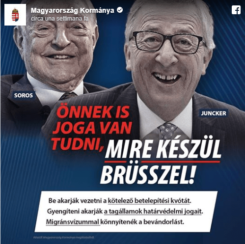 #LaRéplique. Orban launches media campaign on migrants against Juncker and Soros: « Let's stop Brussels! »