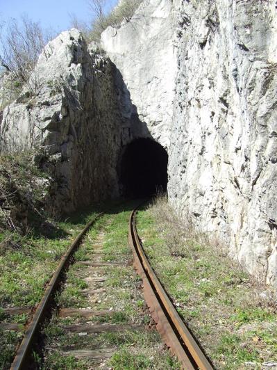 Inainte de intrarea in tunel