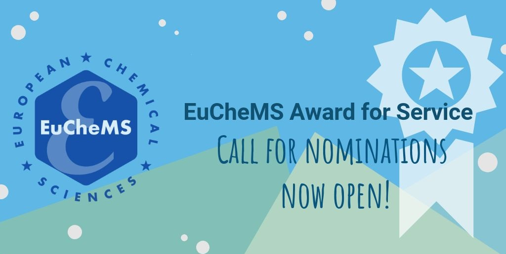 EuChemS Award for Service – call for nominations open!
