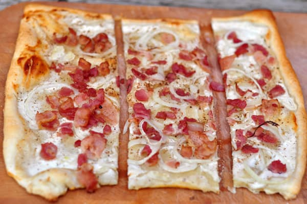 Tarte flambée with Liberte Greek yogurt