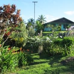 Beautiful garden atop the island.