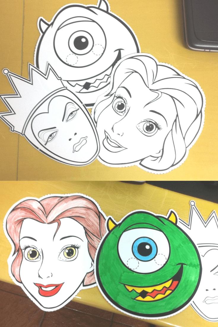 Mascaras Para Imprimir Personagens Disney Eu Lele E As Criancas