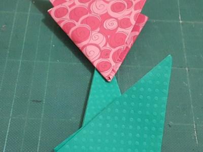 tutorial flor de papel