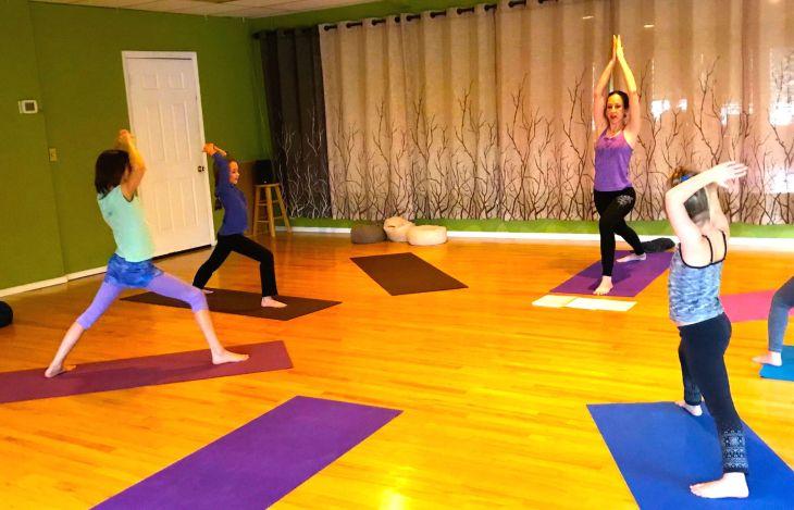 kids yoga warriors