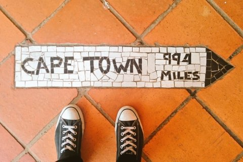 At the Rovos Rail station in Pretoria (Copyright: Eugene Yiga)