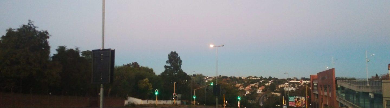 Empty streets under Johannesburg lockdown (Copyright: Eugene Yiga)