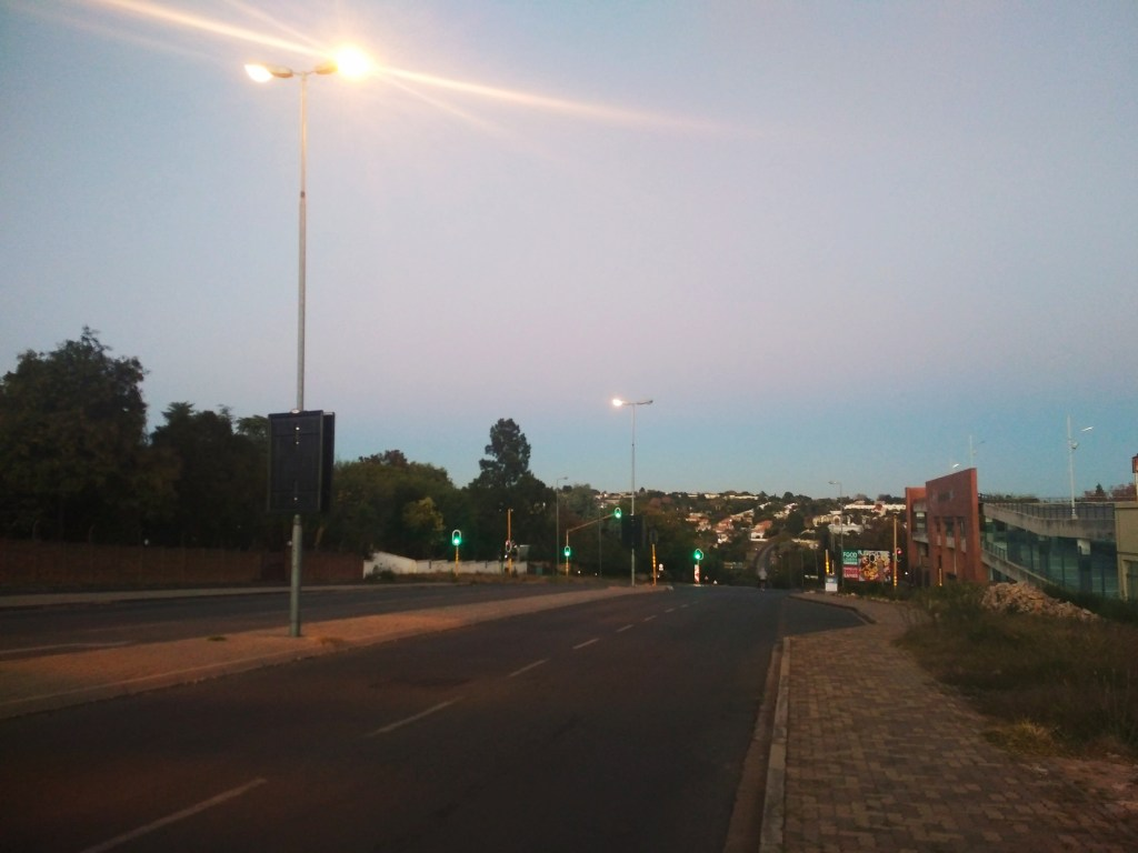 Empty streets under Johannesburg lockdown (Copyright: Eugene Yiga)