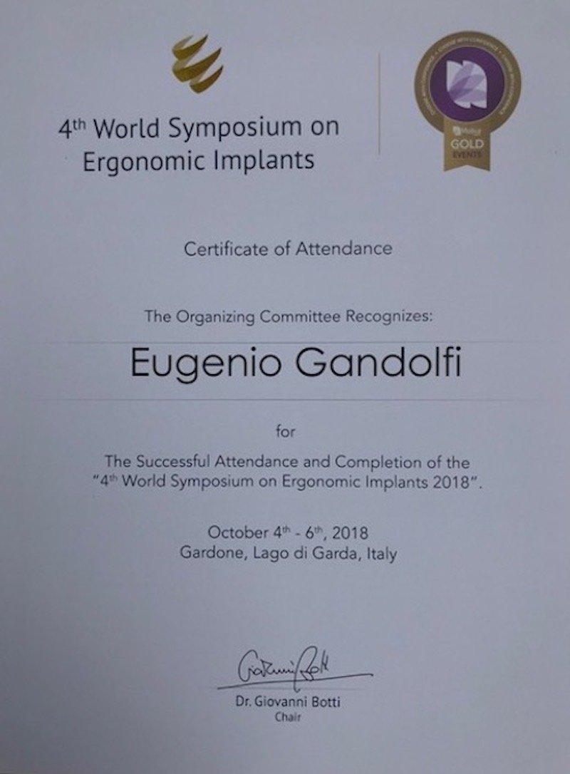 4th World Symposium on Ergonomic implants 1 - Dr. Eugenio Gandolfi