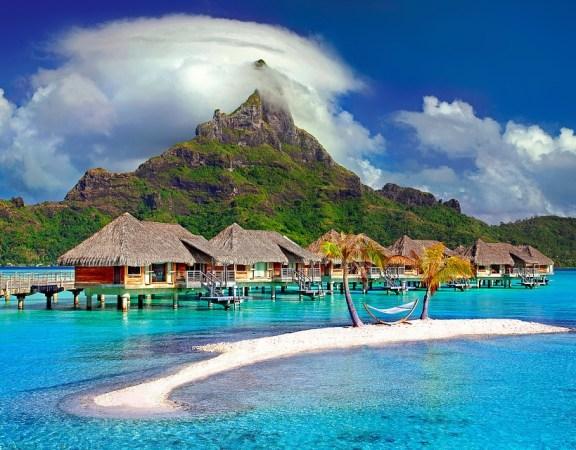 La Polynésie, hébergements au bord de l'eau