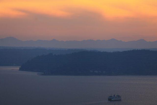 Vista da Space Needle - Puget Sound
