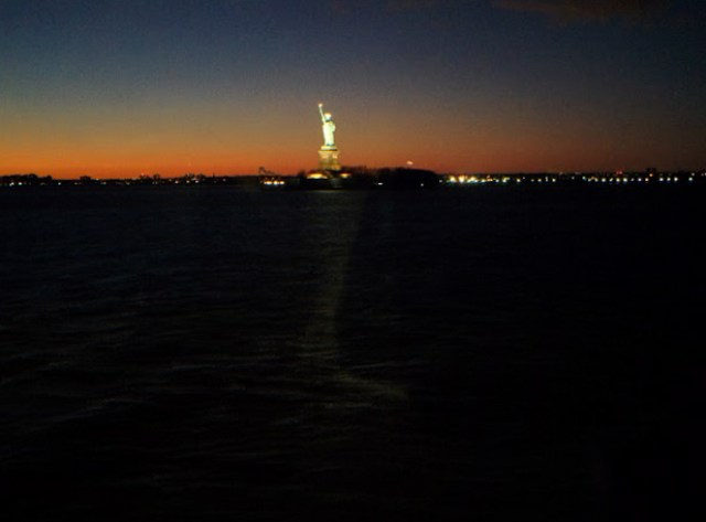 Estátua da Liberdade vista da Staten Island Ferry