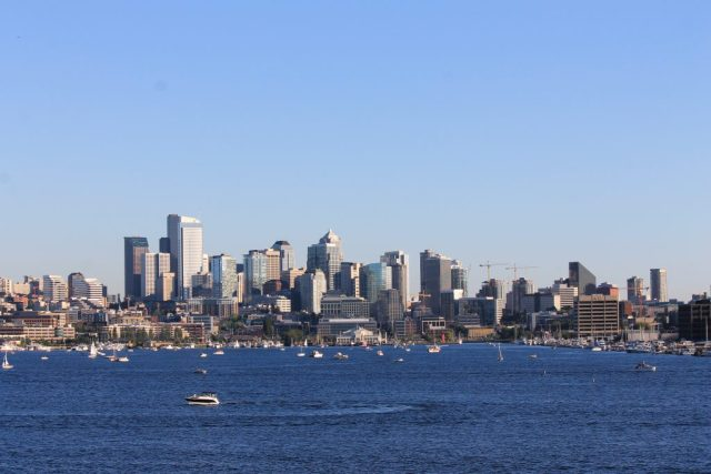 Vista de Seattle do Gas Works Park