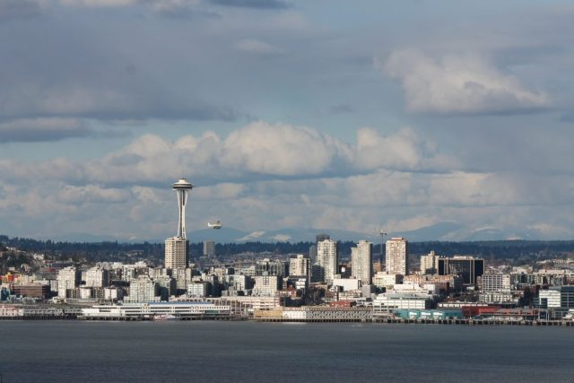 Vista de Seattle do Belvedere Park