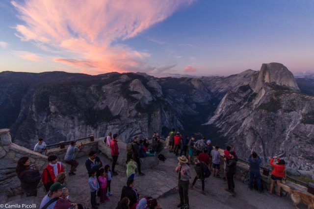 Yosemite - entardecer em Glacier Point