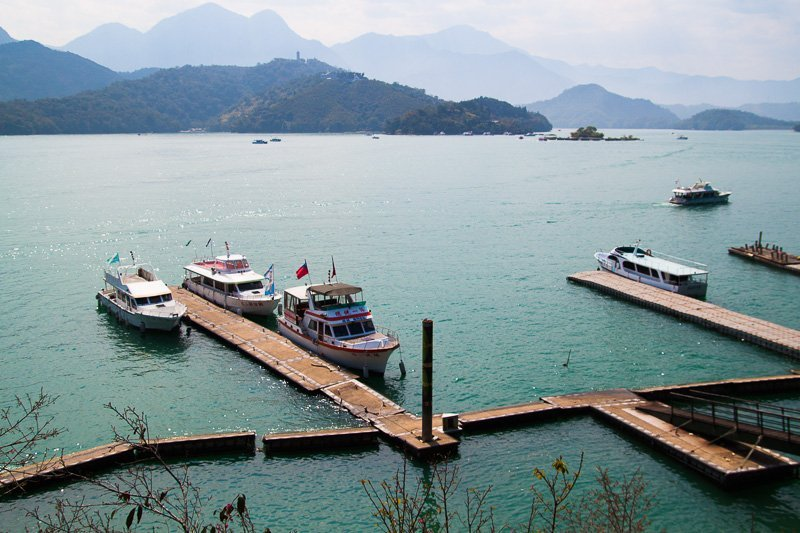 view of sun moon lake taiwan