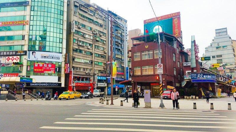 Ximending crossroads, Taipei, Taiwan