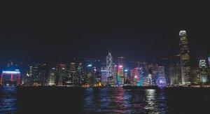 symphony of lights victoria harbour hong kong