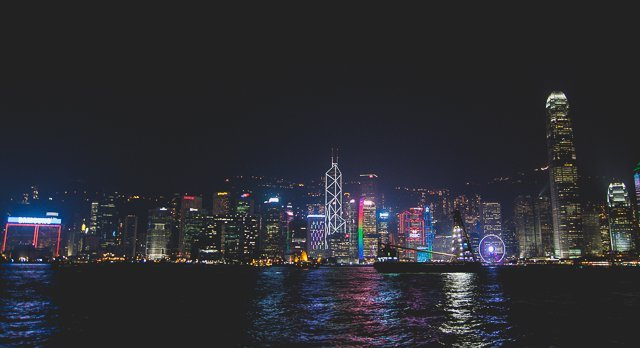symphony of lights victoria harbour hong kong