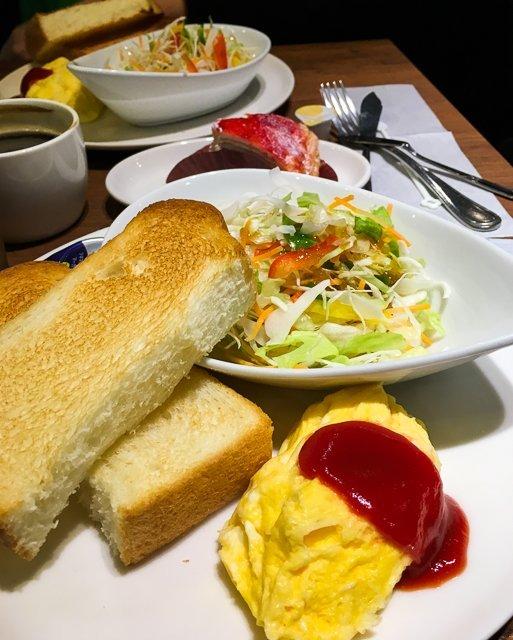 Breakfast Set Pronto Cafe Tokyo Japan