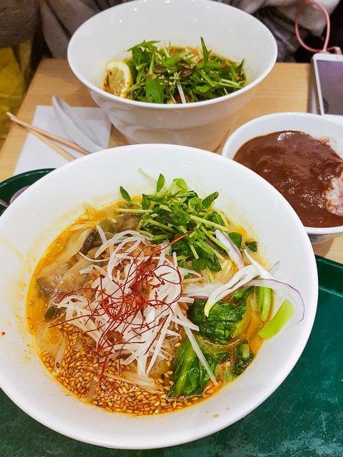 Ramen at T's Tan Tan - Vegetarian restaurant in Tokyo, Japan