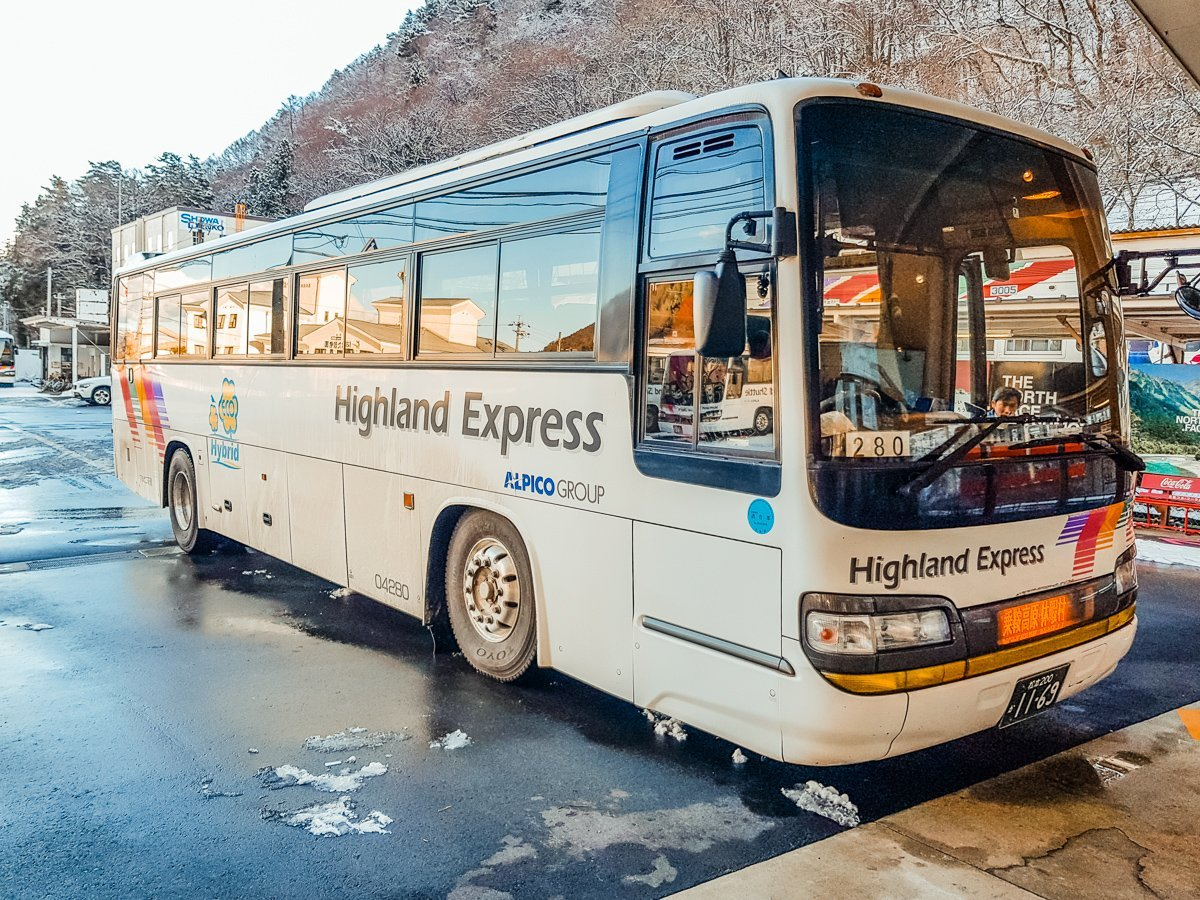 Bus from Shin-Shima Shima to Norikura Kogen