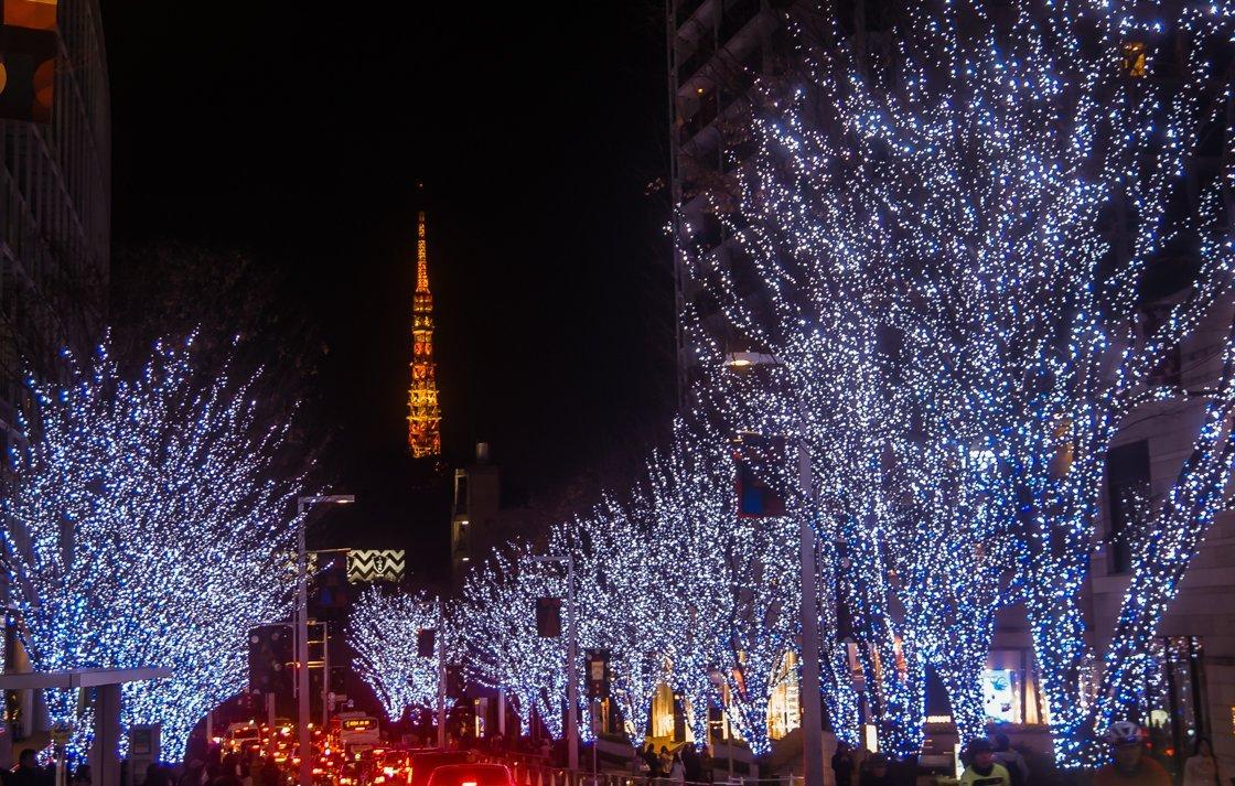 Roppongi hills - winter illumination 2018, Tokyo, Japan