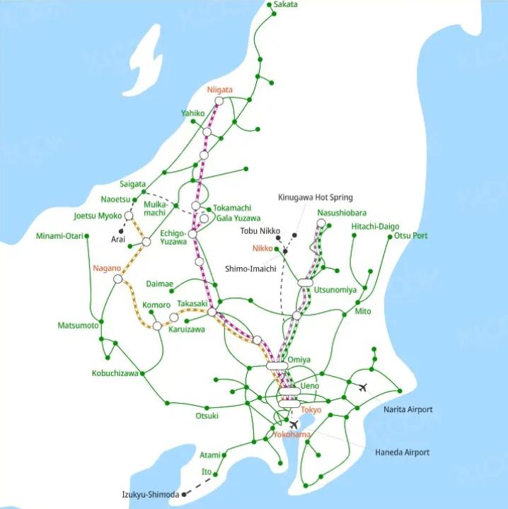 klook-jr east niigata nagano area pass - eligible routes