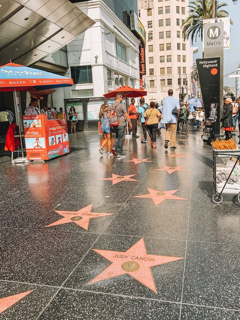 Hollywood Walk of Fame, LA, 2-week US itinerary