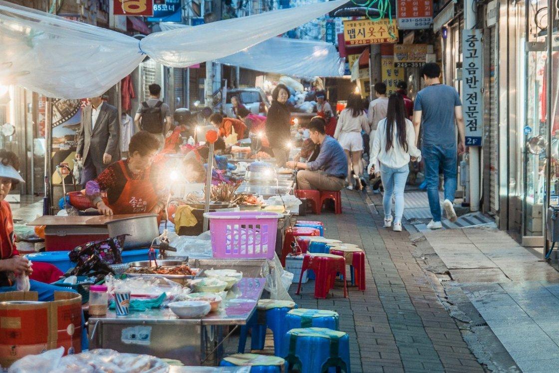 Arirang street, Busan, South Korea