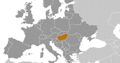 Location of Hungary. Source: CIA World Factbook.