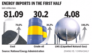 Energy Import figures for first half of 2010