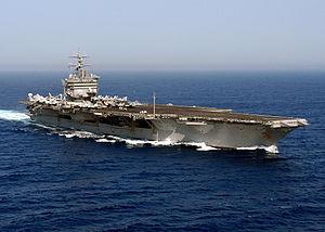 USS Enterprise underway in the Atlantic Ocean